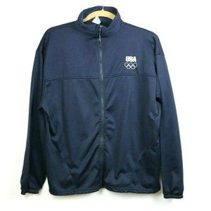 United States Olympic Committee Mens Jacket Blue